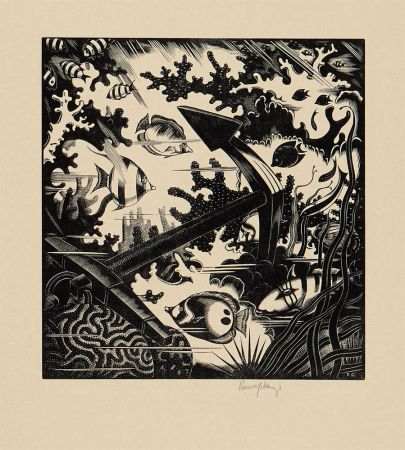 Engraving Gibbings - The Lost Anchor