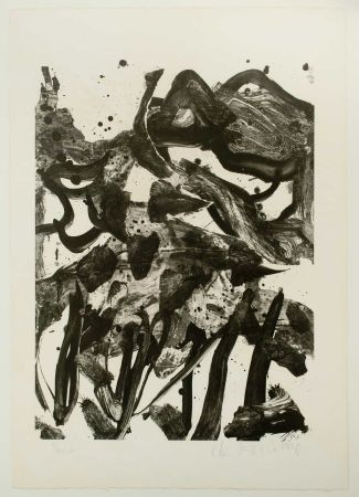 Lithograph De Kooning - The Marshes