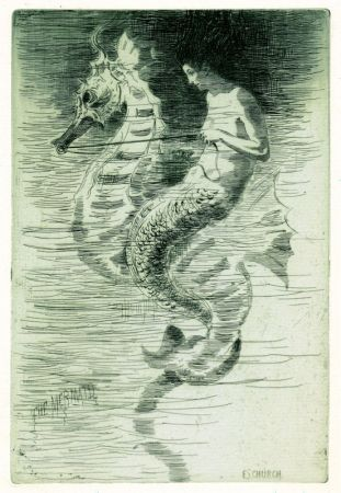 Etching And Aquatint Church - The Mermaid