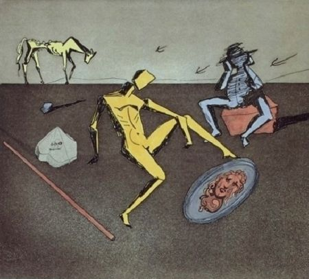 Etching And Aquatint Dali - The Mirror Of Chivalry