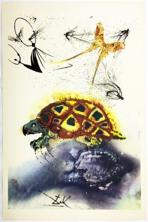 Rotogravure Dali - THE MOCK TURTLE'S STORY (From Alice in Wonderland. New-Yok 1969).