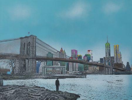 Screenprint Walker - The Morning After – Brooklyn Bridge