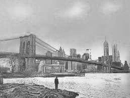 Screenprint Walker - The Morning After – Brooklyn Bridge – Special Edition
