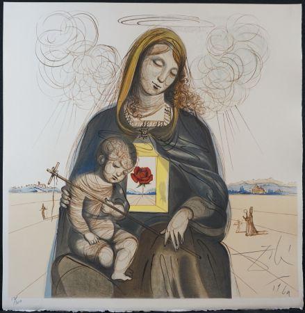Lithograph Dali - The Mystical Rose Madonna