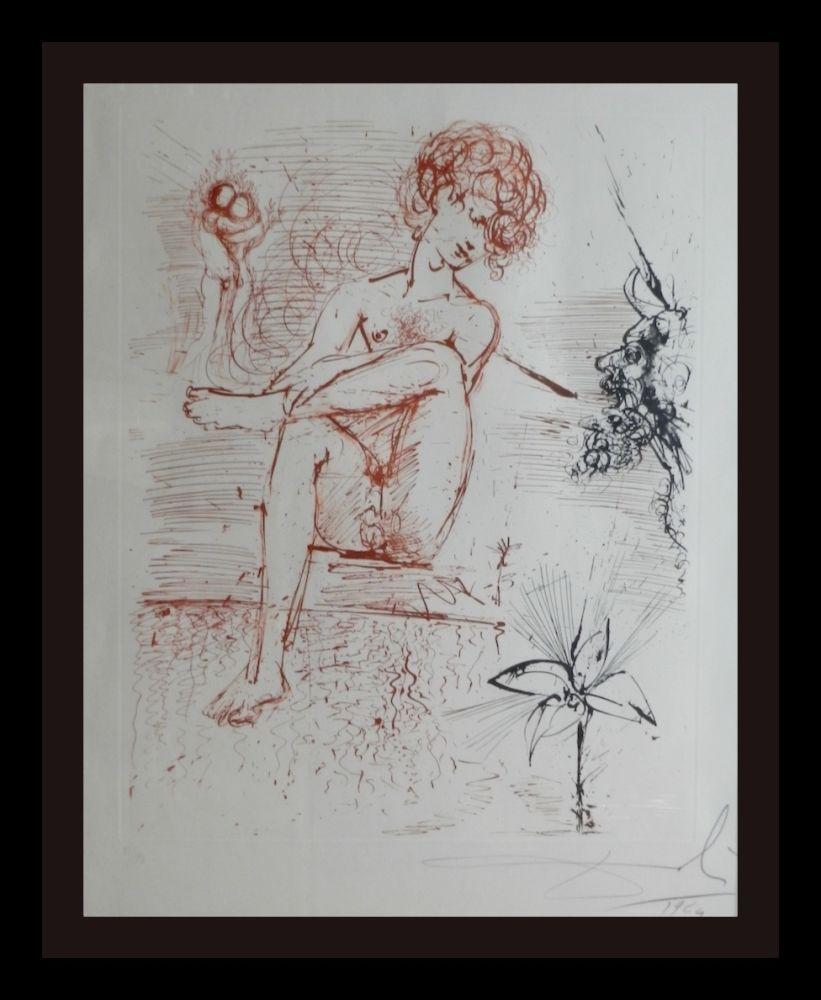 Etching Dali - The Mythology Narcissus