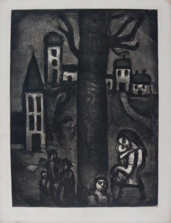Etching And Aquatint Rouault - The Neighborhood of The Long Suffering
