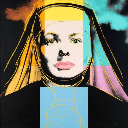 Screenprint Warhol - The Nun, Ingrid Bergman (FS II.314)