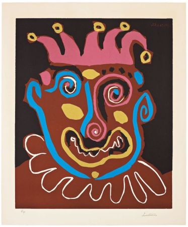 Linocut Picasso - The old king