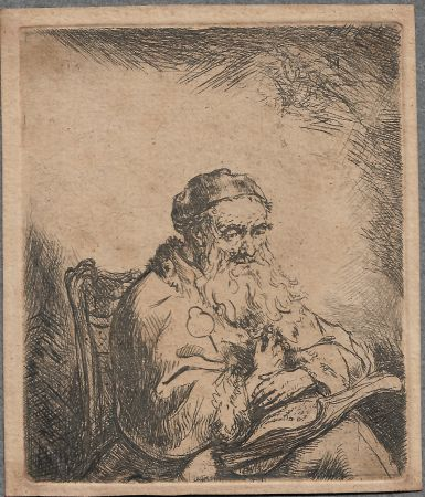 Etching Bol - The Old Man with a Leaf of Trefoil on His Coat