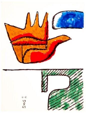 Lithograph Le Corbusier - The Open Hand