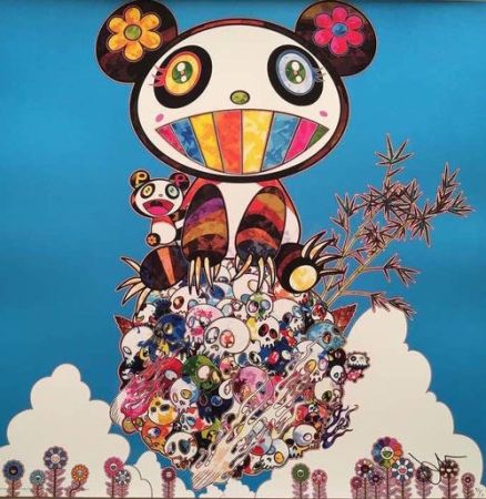 Lithograph Murakami - The Pandas say they are happy