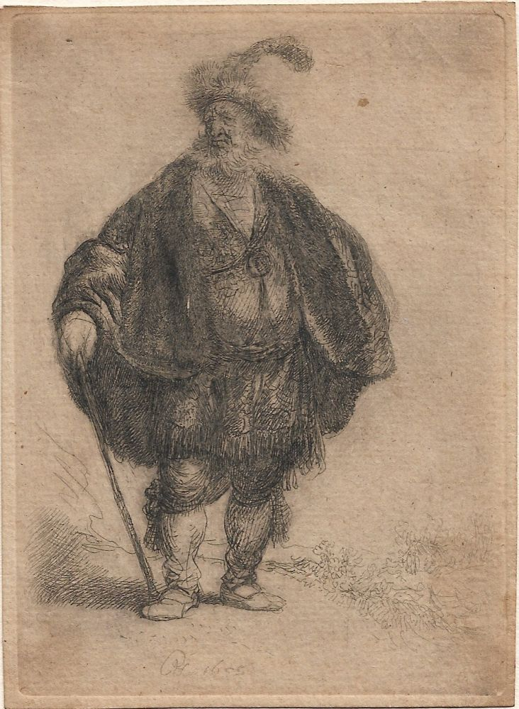 Etching Rembrandt - The Persian