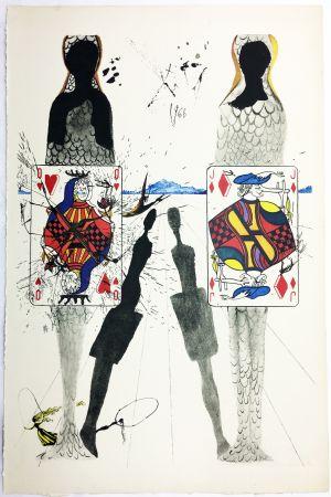 Rotogravure Dali - THE QUEEN'S CROCKET GROUND (From Alice in Wonderland. New-Yok 1969).