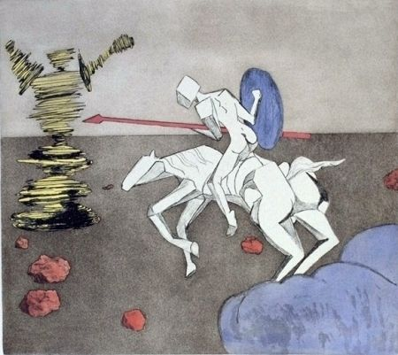 Etching And Aquatint Dali - The Quest