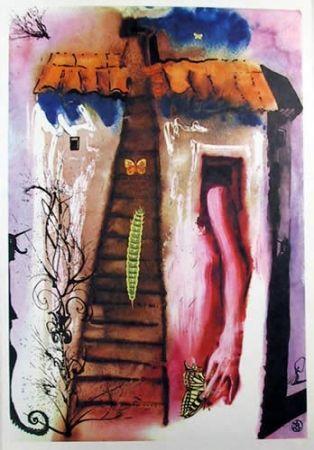 Lithograph Dali - The Rabbit Sends in a little bill