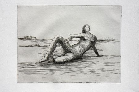 Etching Moore - The Reclining Figure (Plate 4)