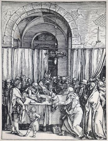 Woodcut Durer - The Rejection of Joachim's Offering (The Life of the Virgin), c. 1504