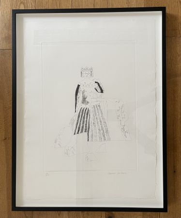 Etching And Aquatint Hockney - The Rescued Princess