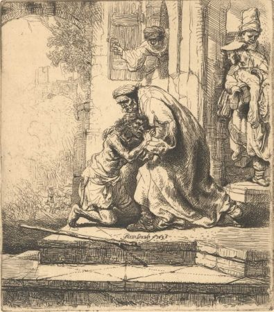 Etching Rembrandt - The Return of the Prodigal Son