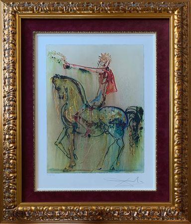 Lithograph Dali - The Roman Cavalier (Le Chevalier Roman)