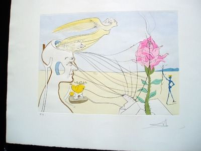 Etching Dali - The Rose