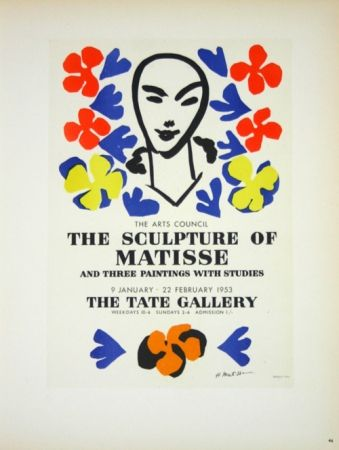 Lithograph Matisse - The Sculpture of Matisse  Tate Galerie 1953