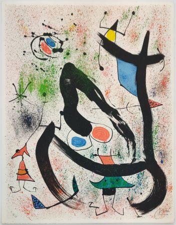Lithograph Miró - THE SEERS IV (LES VOYANTS)