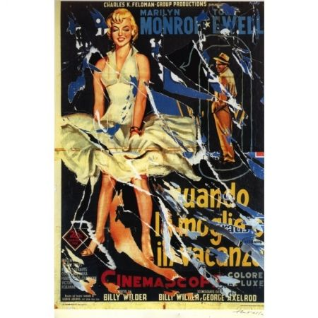 Screenprint Rotella - The Seven Year Itch (Original title: Quando la moglie va in vacanza.)