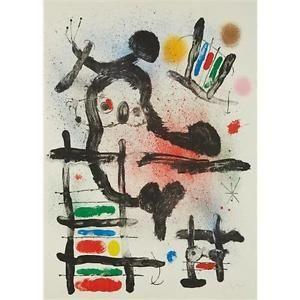 Lithograph Miró - The Slingshot Bird