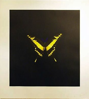 Engraving Hirst - The Souls On Jacob's Ladder Take Their Flight (Small Yellow)