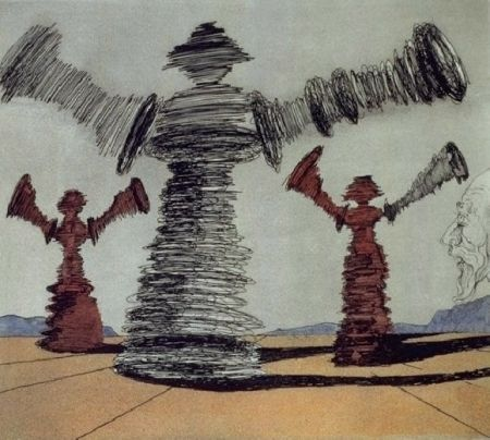 Etching And Aquatint Dali - The Spinning Man