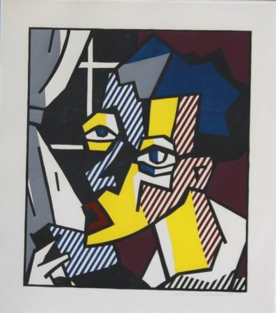 Woodcut Lichtenstein - The Student