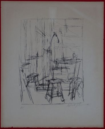 Lithograph Giacometti - The Studio with Head of Horse (II)