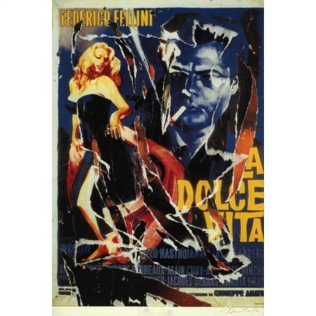 Screenprint Rotella - The Sweet Life (Original title: La dolce vita)