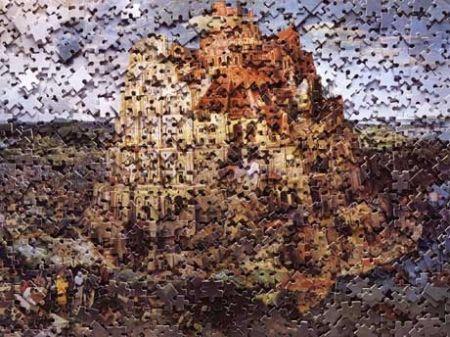 Multiple Muniz - The Tower of Babel, after Pieter Breugal