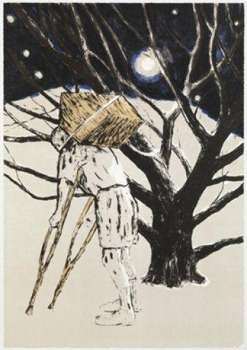 Lithograph Martinez Celaya - The Tree