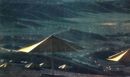 Multiple Christo - The Umbrellas, Japan-USA, 1984-91, California, USA Site