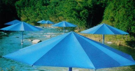 Multiple Christo - The Umbrellas, Japan-USA, 1984-91, Ibaraki, Japan Site.
