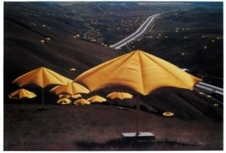 Offset Christo - The Umbrellas, Japan - USA 1984-91