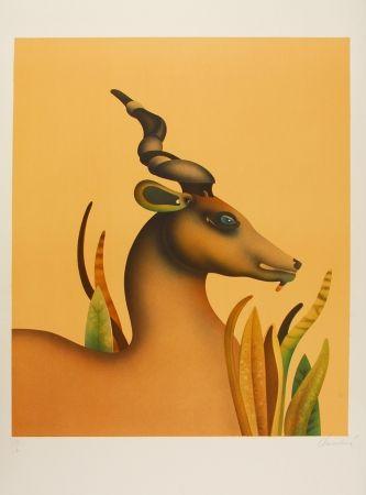 Lithograph Donadini - The Unicorn / La licorne