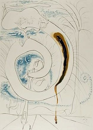 Etching Dali - The visceral circle of the cosmos