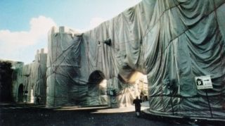 Multiple Christo - The Wall-Wrapped Roman Wall, Rome, 1974