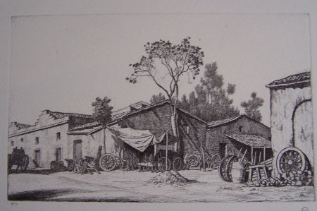 Etching Strang - The Wheelwright's Shop
