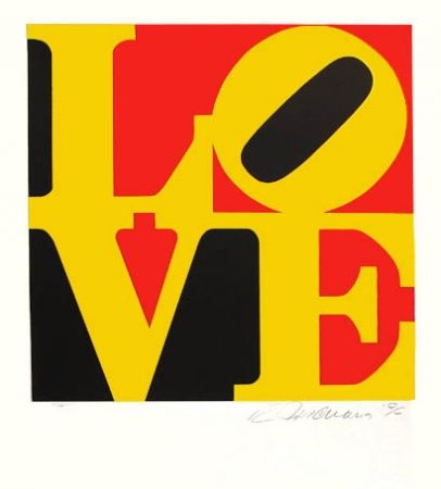 Screenprint Indiana - The Word from The Book of Love