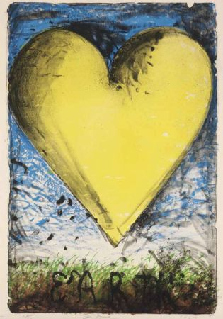 Lithograph Dine - The Yellow Heart
