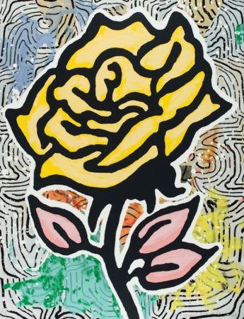 Screenprint Baechler - The Yellow Rose