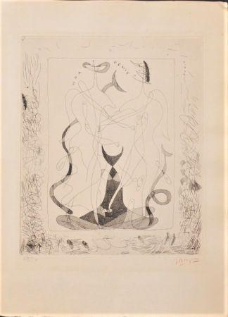 Engraving Braque - Theogonie