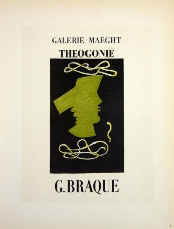 Lithograph Braque - Theogonie  Galerie Maeght