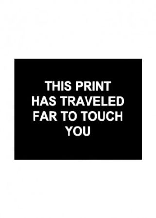 Etching Prouvost  - This print has traveled far to touch you