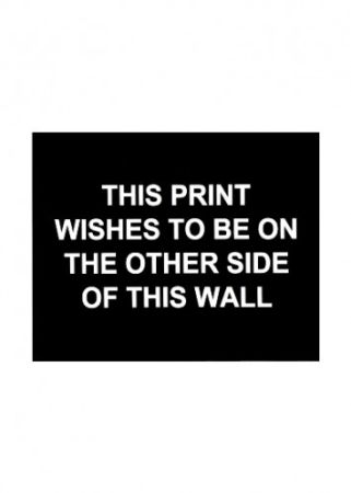 Etching Prouvost  - This print wished to be on the other side of this wall